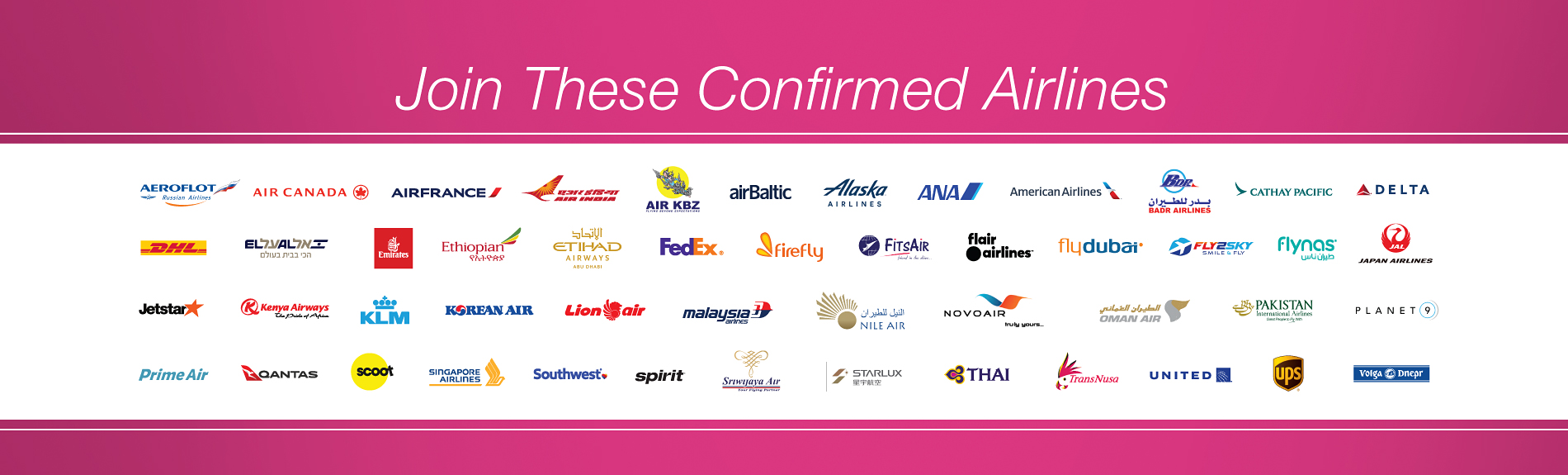 These airlines will be in attendance
